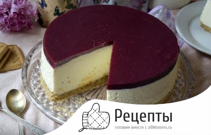Рецепт чизкейка с творожным сыром и печеньем без выпечки