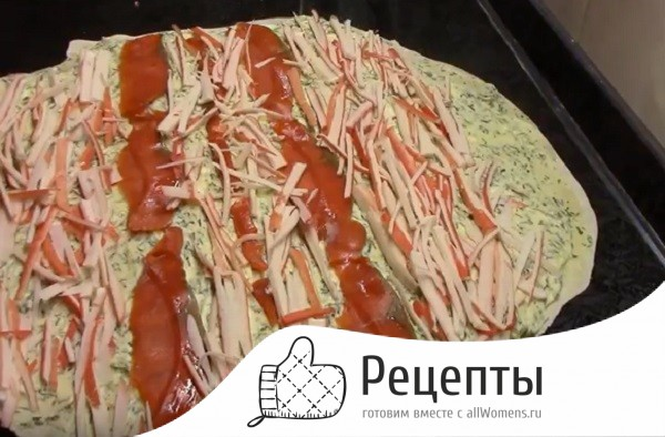 Как сделать Рулет из лаваша с красной рыбой пошаговый рецепт
