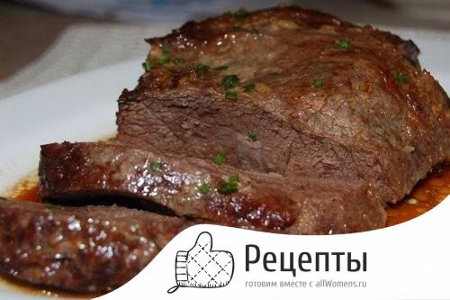 мясо в духовке целым куском рецепты