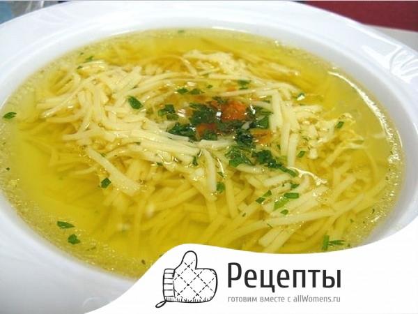 Как приготовить суп с вермишелью с фото